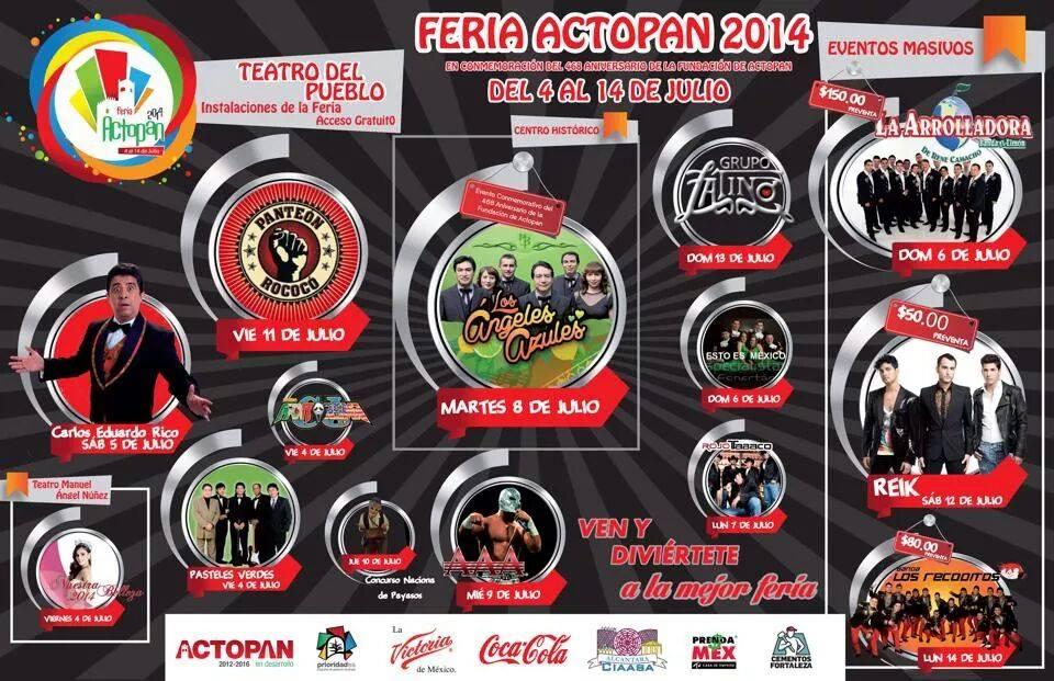 Programa Feria Actopan 2014