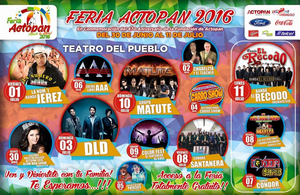 Programa Feria Actopan 2016