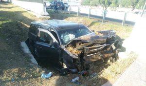 Accidente carretero de Escoltas del Gobernador Omar Fayad