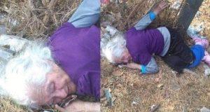 Familia abandonaron a anciana de 85 años en un basurero